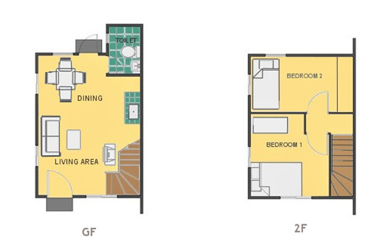 Mikaela Floor Plan House and Lot in Cavite
