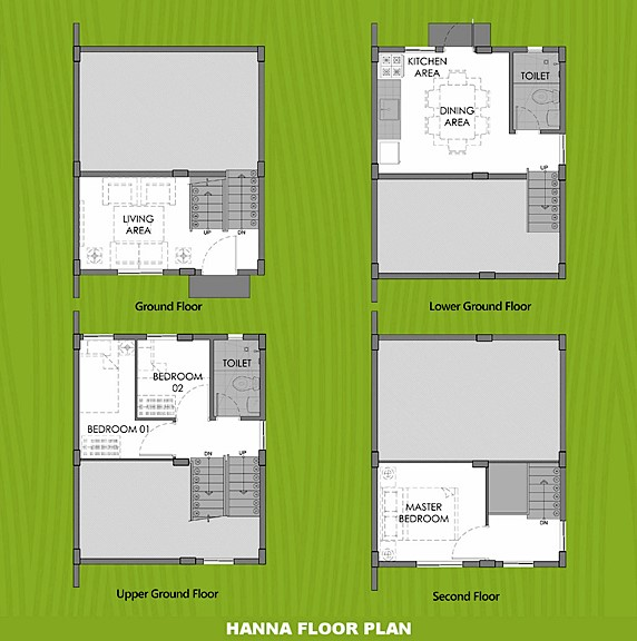 Hanna Floor Plan House and Lot in Cavite