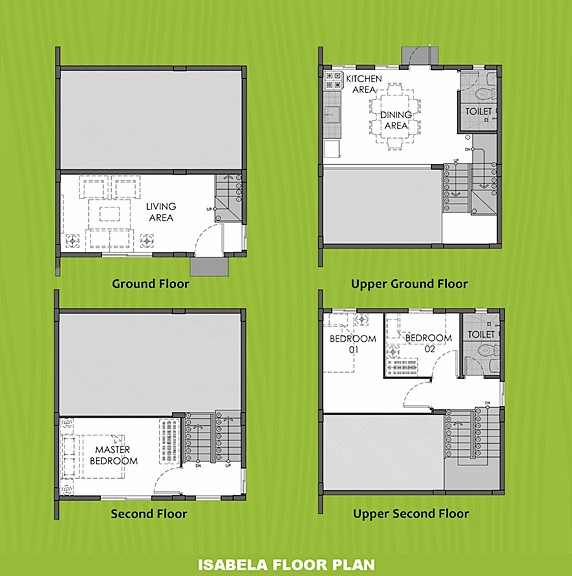 Isabela Floor Plan House and Lot in Cavite