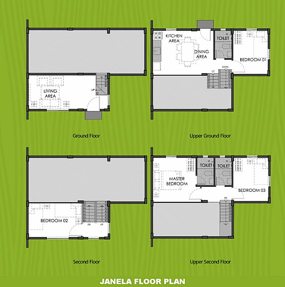 Janela Floor Plan House and Lot in Cavite