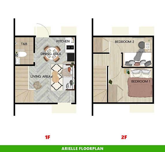 Arielle Floor Plan House and Lot in Cavite