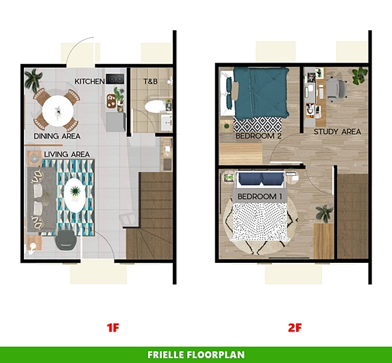 Frielle Floor Plan House and Lot in Cavite